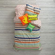 Essential Stripe Bedding and Duvet Cover | The Land of Nod