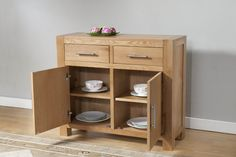 Lucerne Solid Oak Sideboard 2 drawers and 2 doors