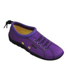 893b4f8d1 Rockin Footwear Neon Purple Aqua Sneaker - Girls