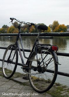 Bicycle Along the Maas River, Maastricht, The Netherlands