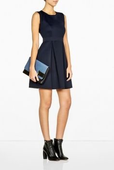 SPORTMAX CODE TEMPERA FIT AND FLARE JERSEY DRESS