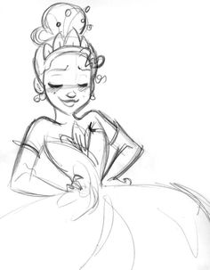 Doodle - Tiana (C) DISNEY I should really just start a collection of things I doodle when I'm talking on the phone.
