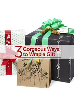 How to Wrap a Weirdly Shaped Gift (and 2 Other Gorgeous Ideas)