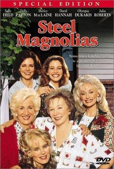 Steel Magnolias 1989 Starring Shirley MacLaine, Sally Field, Dolly Parton, Darryl Hannah, Julia Roberts and more. Filmed in Louisiana. Cinema Tv, Films Cinema, I Love Cinema, Julia Roberts, Old Movies, Great Movies, Plane Movies, Awesome Movies, See Movie