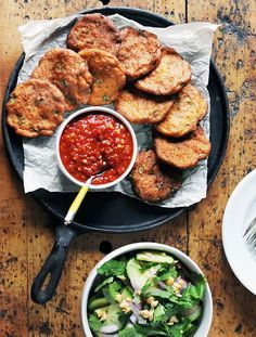 For these delectable Thai fish cakes, I like pounding all the ingredients step-by-step in a monstrous mortar and pestle to achieve the perfect bouncy mouth feel that the Chinese call Q-Q. The results in a food processor are almost as good. And the schmaltz and ice really help the emulsification.