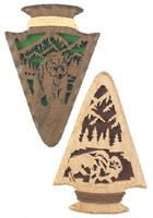 Arrowhead Buffalo & Grizzly Scroll Saw Patterns