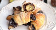 Nutellás, banános croissant recept: Gyors reggelinek, vagy épp vendégvárónak is tökéletes ez a Nutellás, banános croissant recept. 30 perc alatt kész, és csak 3 hozzávaló kell hozzá ;) Mennyei finom! ;)