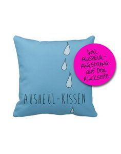 Das Ausheul-Kissen inkl. Anleitung, 40x40cm von goodgirrrl auf DaWanda.com