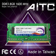 Hot Sale AITC ddr3 1600mhz ram ddr 3 ram 8gb for laptop so-dimm ddr3