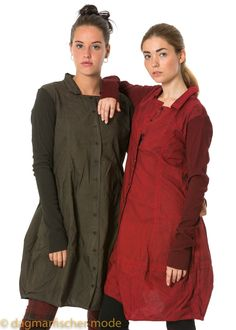 Dress by RUNDHOLZ BLACK LABEL in different colors - dagmarfischermode.de    #dress #coat  #rundholz #blacklabel #fashion #style #stylish #german #designer   #styles #outfit #newseason #layering #lagenlook #onesize #oversize #xxl  #autumn #fall #winter   #cotton  #black #red #green