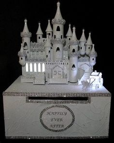 Lighted Cinderella Wedding Castle Card Box by FairytaleandDreams