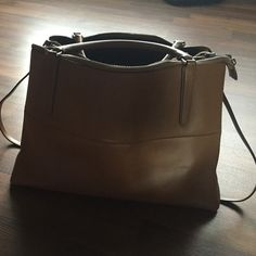 Coach Briefcase, light brown Large briefcase computer bag. Almost new- holds a ton! Coach Bags Laptop Bags