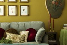 Green Living Room - eclectic - living room - san francisco - Story & Space - Interior Design and Color Guidance