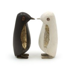 wooden penguins