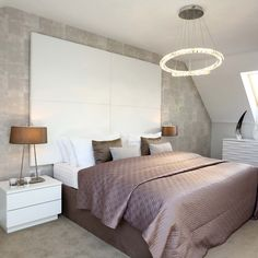 Soft pinks and greys in the master bedroom #Strata #Bedroom #HomeDecor