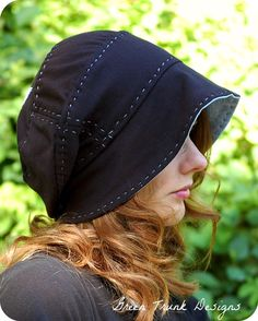 Resultado de imagem para slouch hat from 2 recycled t-shirts Hat Patterns To Sew, Bonnet Hat, Sun Hats For Women, Recycled T Shirts, Cloche Hat, Hat Making, Handmade Clothes, Beanie Hats, Slouch Hats