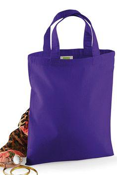 Sacoșă Mini Promo Tote Westford Mill din 100% bumbac cu dimensiuni de 26 x 32,5cm. Special concepută pentru imprimare sau broderie. #sacose #printate #brodate #personalizate #westfordmill Ted Baker, Totes, Tote Bag, Bags, Embroidery, Handbags, Bag, Big Bags, Tote Bags