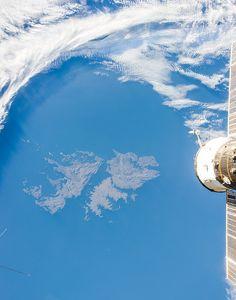 Las Islas Malvinas, vistas desde el espacio