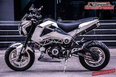 Honda Grom, Honda Msx, Four Stroke Engine, Monkey, Chrome, Motorcycle, Bike, Vehicles, Gold