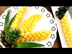 How To Cut and Serve Pineapple 🍍🍍🍍 The Most Satisfying Video Ever
