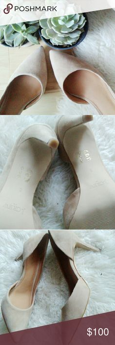 J. Crew Colette Suede D'Orsay Pump Nude, Worn once inside only 8 J. Crew Shoes Heels