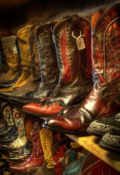 Vintage Cowboy Boots at the Wild West Store, Wimberly, Texas. Cowboy And Cowgirl, Cowgirl Boots, Cowboy Hats, Custom Cowboy Boots, Cowboy Gear, Custom Boots, Cowgirls, Western Wear, Western Boots