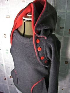 For Nursing Moms Everywhere - winter fleece HOODIE and nursing function UPGRADE FEE.. $91.00, via Etsy.