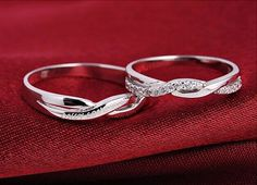 Free Engrave Platinum Infinity Rings Wedding Couples Rings Lovers Rings His And Hers Promise Ring Sets Wedding Rings Matching Ring Wedding Rings Sets His And Hers, Matching Wedding Rings, Infinity Ring Wedding, Cool Wedding Rings, Matching Rings, Silver Wedding Rings, Bridal Rings, Silver Rings, Infinity Rings