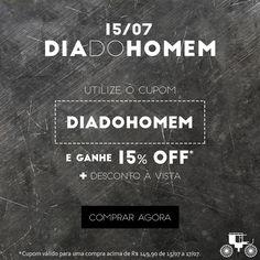 Homens, aproveitem!  Hoje é o seu dia! #diadohomem #cupom #desconto #decoração #parahomens #carrodemola #presentão #elesmerecem   ► http://carrodemo.la/9a96e