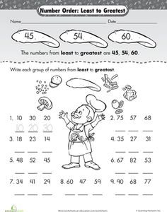 Worksheets Least To Greatest Worksheets math assessment and good ideas on pinterest worksheets number order least to greatest