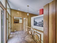 Mid Century Modern Denver interior staircase // saved for those railings. Gorgeous.