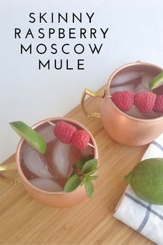 Cocktail Hour: Skinny Raspberry Moscow Mule