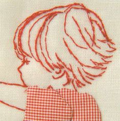 Embroidery hair