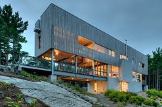 Modern four bedroom seaside retreat recently designed by MacKay-Lyons Sweetapple Architects located in Halifax, Nova Scotia, Canada.