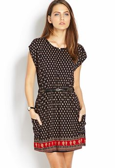 I love dresses like these.(Daring Scarf Print Dress w/ Belt Little Dresses, Dresses For Work, Summer Dresses, Arab Fashion, Womens Fashion, Spring Outfits, Casual Outfits, Fashion Dresses, Betta