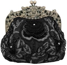 MG Collection Vintage Style Hand Beaded Evening Purse Bag Black One Size -- Learn more by visiting the image link.Note:It is affiliate link to Amazon.