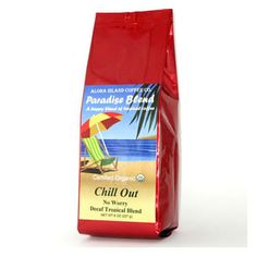 Aloha Island Chill Out SWP Decaf Ground Coffee 8oz Bag