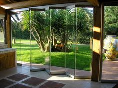 Frameless aluminium folding door GIEMME SYSTEM® - Giemme Home by GM MORANDO