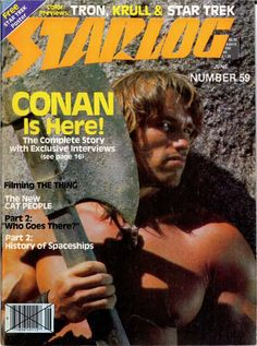 Starlog (June, 1982) cover with CONAN THE BARBARIAN