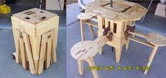 Magic Folding Picnic Table