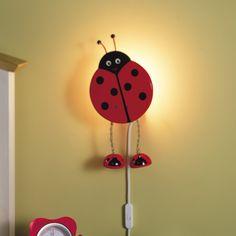 Ladybird (Wall), Wall Lights, Globug - Kids & Home Lighting Ladybugs, Kids House, Home Lighting, Cute Kids, Kids Room, Wall Lights, Room Decor, Room Kids, Appliques