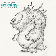 It's been a while since I've drawn a new Kaiju. Still the most fun to draw!  #morningscribbles