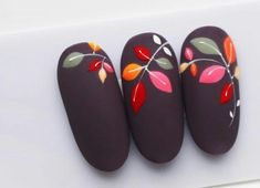 french tip nails Cute Acrylic Nails, Cute Nails, Pretty Nails, Fall Nail Art, Autumn Nails, Manicure, Gel Nails, Fabulous Nails, Perfect Nails