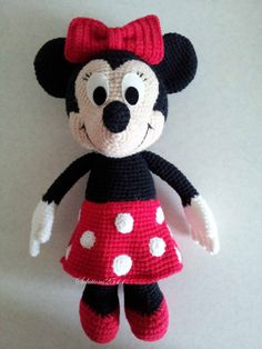 Minnie Mouse 11 Handmade crochet doll birthday by Solutions2511