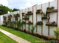 110 awesome spring garden ideas for front yard and backyard -page 14 Garden Fencing, Garden Landscaping, Bamboo Wall, Walled Garden, Home Garden Design, Vertical Gardens, Diy Pergola, Spring Garden, Indoor Plants