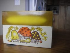 Cute Vintage Mushroom Recipe Box