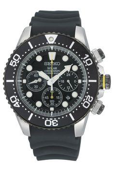 Reloj Seiko Solar para hombre con cronógrafo y sumergible SSC021P1 - Joyería Relojería Miguel