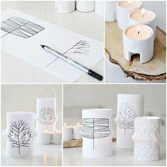 la little gallery - 5 idées créatives et lumineuses - photophores en papier