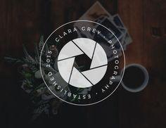 Camera Logo Design Camera Shutter by CoffeeandInkDesign on Etsy