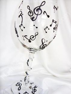 music note wine glass - Google Search